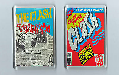 Magnets x 2 : THE CLASH Tommy Gun The Cost of Living EP punk alt. alternative