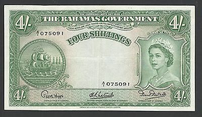 Bahamas 4 Shillings 1953 P13a Extremely Fine