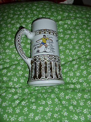 Football World Cup 1970 Brazil Winners Tankard / Stein - Ceramic Impressed No 42