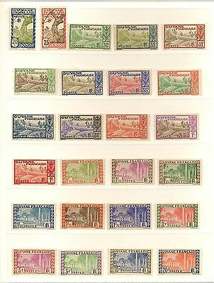 French Guiana 1904-46 Practically Complete Mint/nhm  Collection  Cat £480+