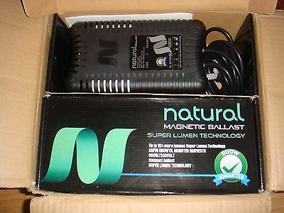 2x Natural 600W Magnetic Ballasts For Grow Light Hydroponics