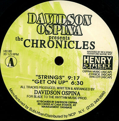 """12""""   Davidson Ospina – The Chronicles   Henry Street Music – HS180"""