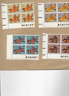 GB stamps 1974 Medieval Warriors unmounted mint traffic lights set