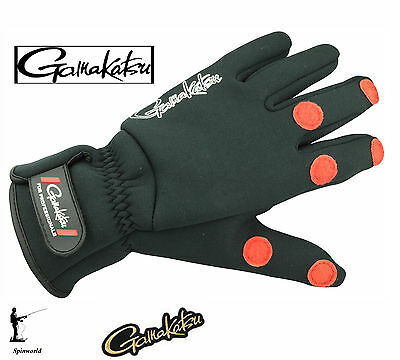 Gamakatsu Fishing Power Thermal Gloves (2mm neoprene) Ideal for cold winter