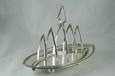 Silver Plate Toast Rack Harrison Fisher Sheffield England 4 Slice Removable Rack