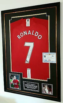 Cristiano Ronaldo of Manchester United Signed Shirt CHAMPIONS LEAGUE WINNERS