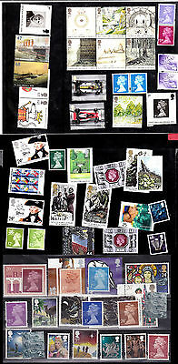 England - Inghilterra BIG LOT of mint reusable stamps, facial value ab. 25£ -