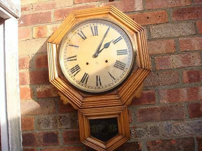 Antique   Old  American Ansonia  Strike   Wall Clock   Pendulum  & Key See Video • £87.00