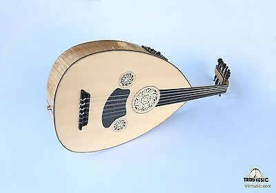 Turkish Professional Half Cut Electric Oud Ud String Instrument Hsoe-103K
