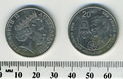 Australia 2011 - 20 Cents Coin - Royal Wedding of Catherine & William