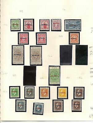 Samoa 1914-52 Mint Collection On Leaves Cat £270 (83)