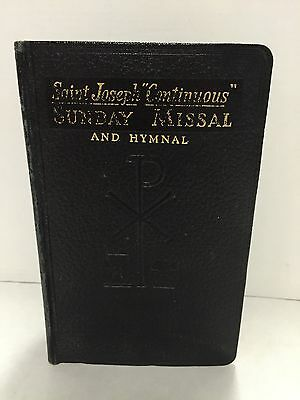 Vtg St Joseph Continuous Sunday Missal and Hymnal new Revised Liturgy 1966 print