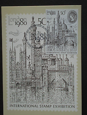 GB: MK maximum maxi picture card  first day fdc London stamp exhibition 1980