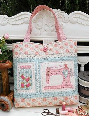 Sewing machine applique bag pattern