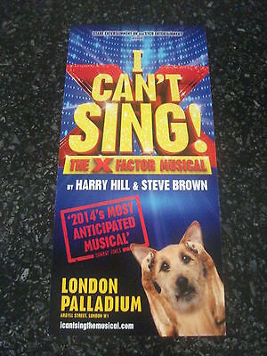 **I Cant Sing the X Factor Musical Flyer Preview**