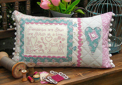 friendships are sewn cushion pattern