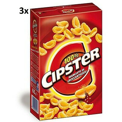 3x Saiwa Chips 'Cipster' party snack 85gr (255gr) Kesselchips Maissnack