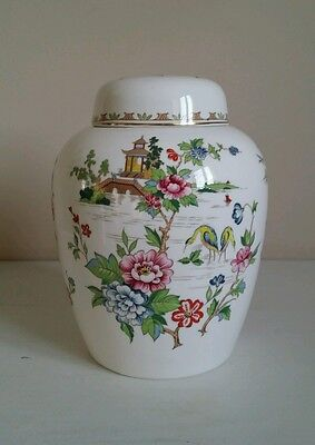 "Crown Staffordshire ""Pagoda"" Ginger Jar and Cover"