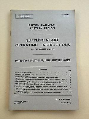 Supplementary Operating Instructions - BR ER Great Eastern - 5th August 1967