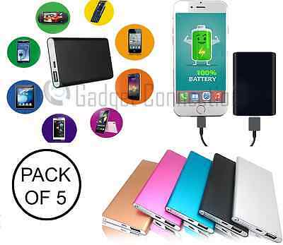 LOT 5x 4000mAh Portable External Battery USB Charger Power Bank for Mobile Phone