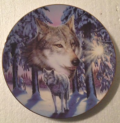 Collectable Wolf Plate - 8 1/4 Inches - Hamilton - Sunrise Spirit