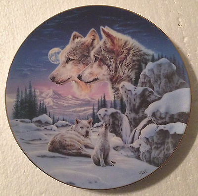 Collectable Wolf Plate - 8 1/4 Inches - Hamilton  - Howl Of Innocence