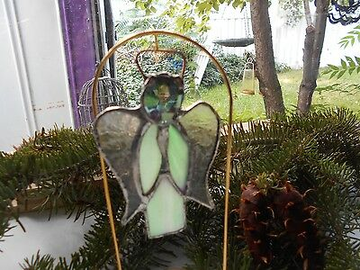 Stained Glass Window Panel Suncatcher  Guardian Angle Art