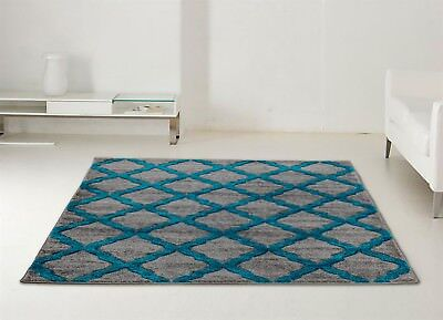 LARGE EXTRA LARGE harlequin RUGS SILVER TEALSOFT THICK PILE RUG CHEAP THICK PILE