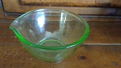 Vintage Green Small Glass Pouring Bowl