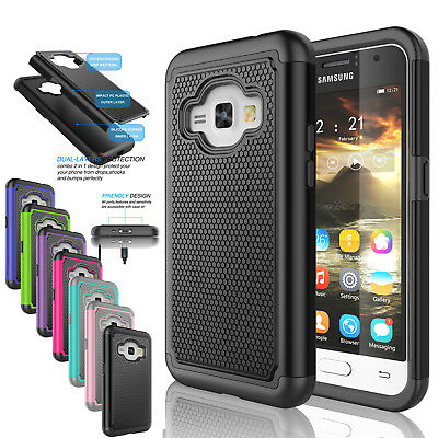 For Samsung Galaxy Express 3 / Luna 2016 Shockproof Hybrid Phone Hard Cover Case