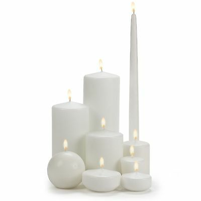 Abbott Candles White Clean Burning Wax Candles