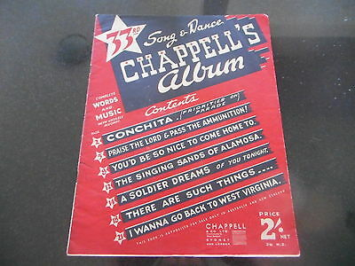 Vintage Music Book * 33Rd Song & Dance Chappell's Album