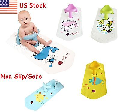 Baby Bath Tub Ring Seat FUN Infant Anti Slip Chair Safety Heat Sensitive US Ship
