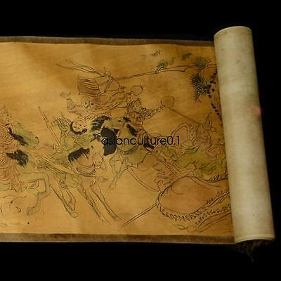 Old Collection of Chinese scroll painting on silk:YueFeiKang gold LM413