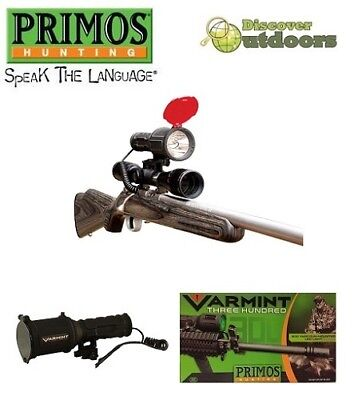 New Primos 300 Yard Varmint Hunting Rechargeable LED Torch Scope & Rail Mount