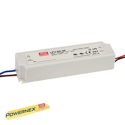 [POWERNEX] MEAN WELL NEW LPV-60-12 12V 5A 60W Single Output Power Supply IP67