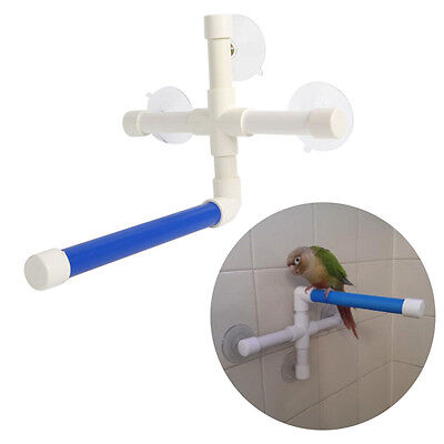 Pet Birds Folding Suction Cup Toys Paw Grinding Stand Bath Shower Perches Parrot