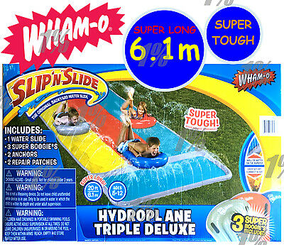 Wham-O Slip 'N Slide Hydroplane Triple Deluxe with 3 Super Boogies 6.1m Long