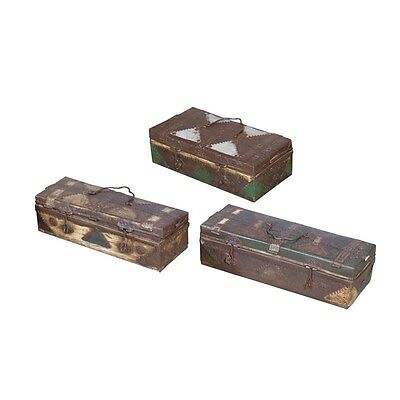 Silkroute NB512P Painted Antique Iron Boxes