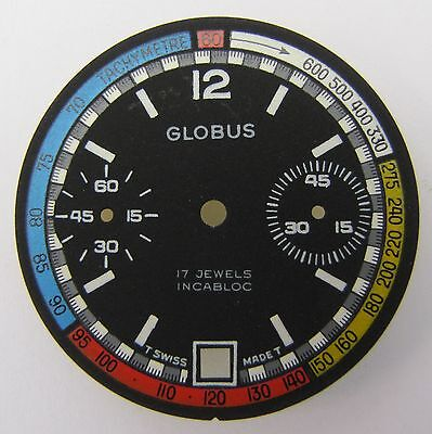 Valjoux 7734 Zifferblatt GLOBUS, NOS swiss made