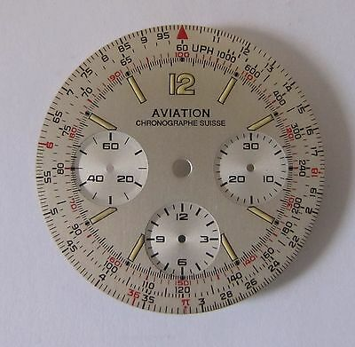 Valjoux 7736, Chronographen Zifferblatt AVIATION, NOS swiss made