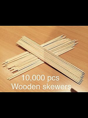 Wooden BBQ Skewers Bulk Lot Suits Auto Feed Machines 240mm 24cm