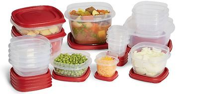 Rubbermaid Food Storage Container, 34-Piece set with the Easy Find Lids Red
