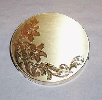 Vintage Elgin American Compact * Art Deco *  With Screen & Puff - Used * 1950s