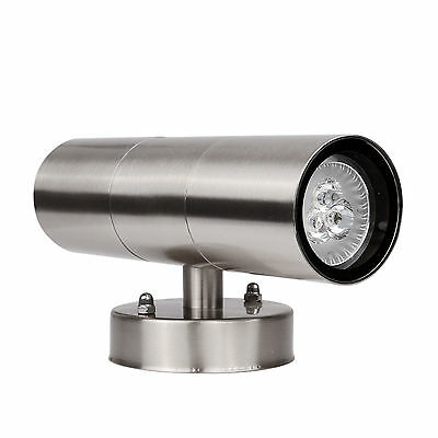 Outdoor 6W Modern LED Light Wall Sconce Up Down Waterproof Fixture Lighting Lamp