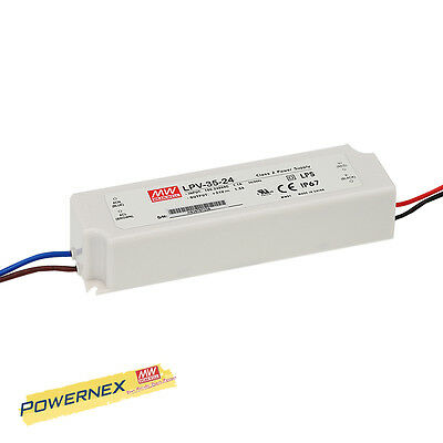 [POWERNEX] MEAN WELL NEW LPV-35-24 24V 1.5A 35W Single Output Power Supply IP67