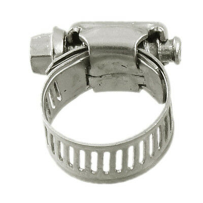 10 Pcs Stainless Steel 13mm to 19mm Hose Pipe Clamps Clips Fastener SH