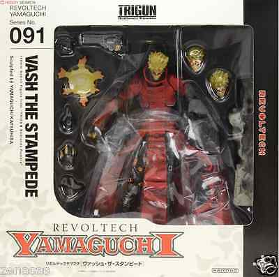 Used Kaiyodo Revoltech Yamaguchi No.91 Trigun Vash the Stampede PVC From Japan