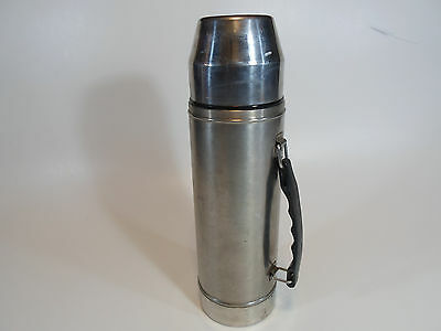 UNO-VAC 1 Quart Stainless Steel Thermos W/Cup 271 577 Hot Cold Lunch Thermos