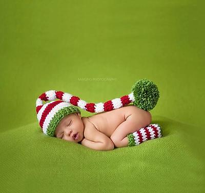Newborn Baby Girls Boys Crochet Knit Costume Photo Photography Prop Outfits Set
